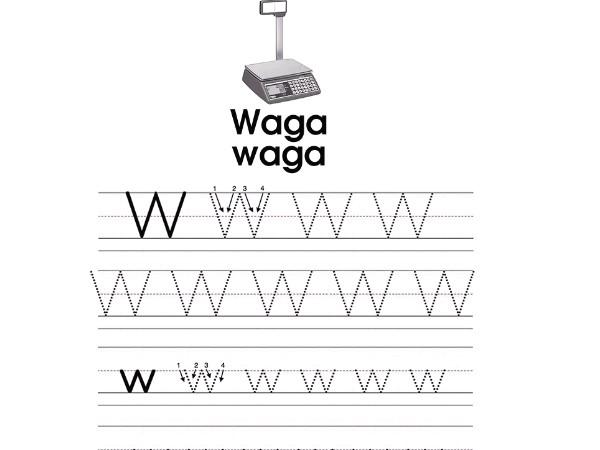 Nauka pisania literek